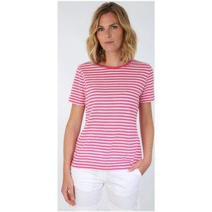 Amor lux linen tee black/white striped M